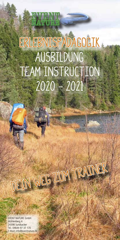 Teaminstructor und Erlebnispädagogik Flyer 2020 Event Nature 1