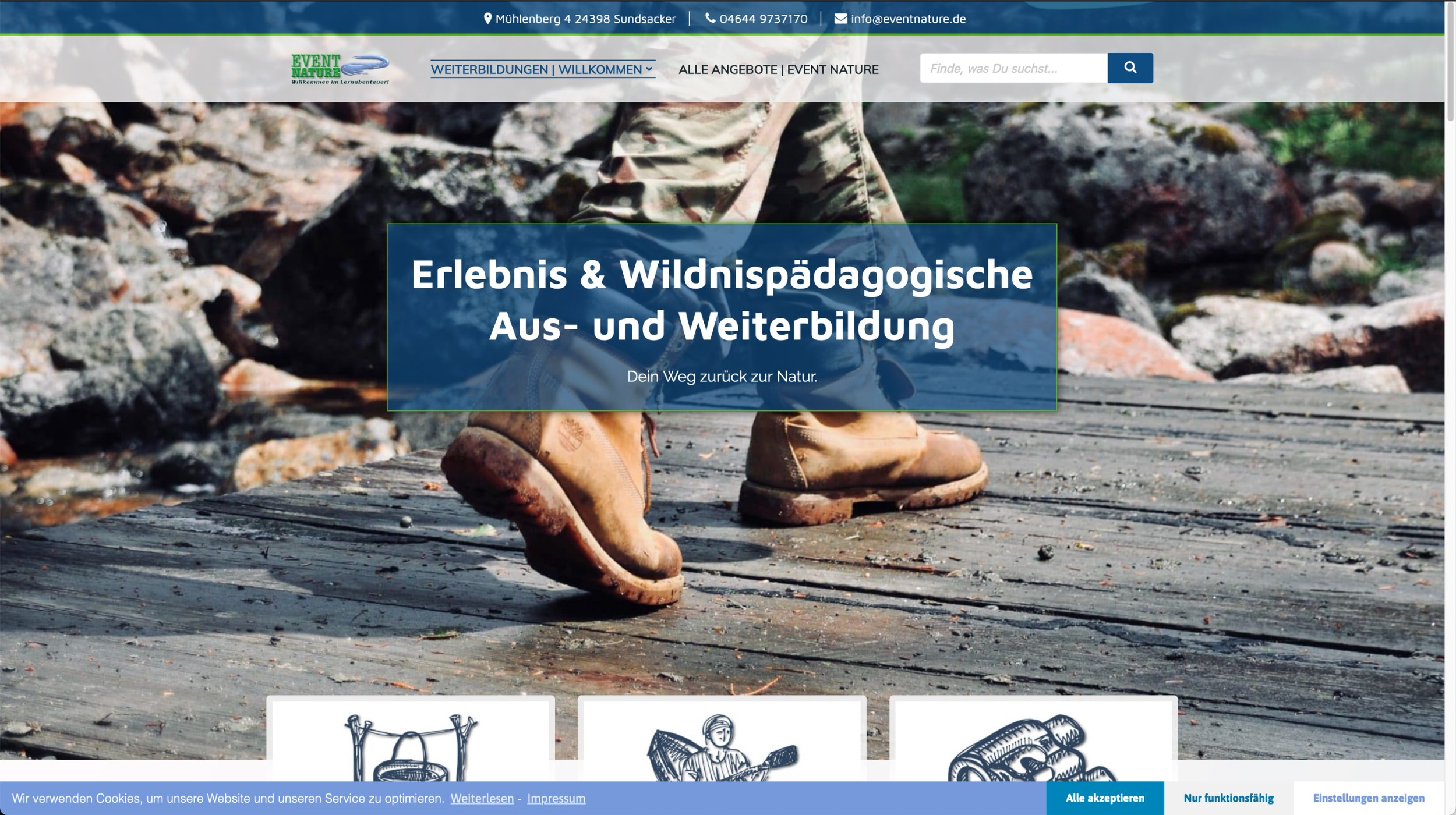 Web Screenshot Pädagogische Weiterbildung