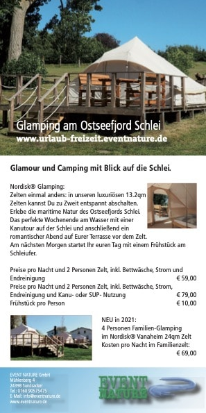 Glamping Schlei 2021 Event Nature